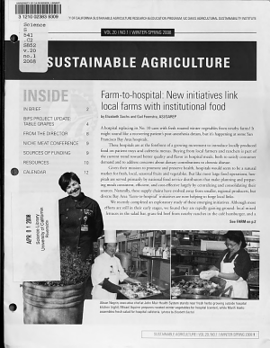Sustainable Agriculture PDF