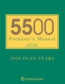5500 Preparer s Manual for 2020 Plan Years