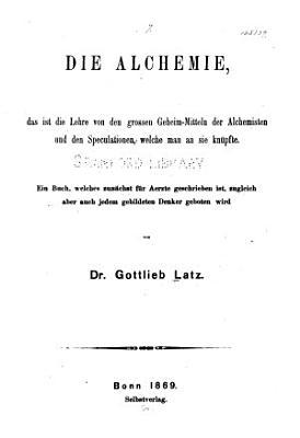 Die alchemie PDF