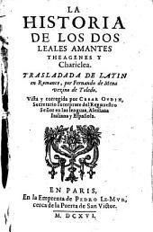 La Historia de los dos leales Amantes Theagenes y Chariclea. - Paris, Le-Mur 1616