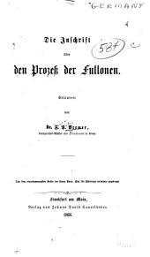 Die Inschrift über den Prozess der Fullonen
