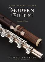 A Dictionary for the Modern Flutist PDF