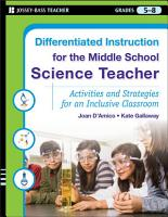 Differentiated Instruction for the Middle School Science Teacher PDF