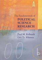 The Fundamentals of Political Science Research PDF