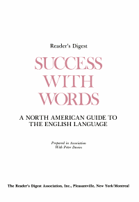 Success with Words