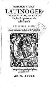 Onomasticon latino-germanicum
