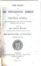 The Story of the Universities  Mission to Central Africa PDF