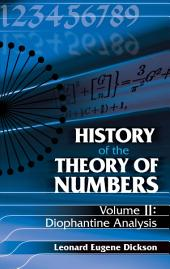 History of the Theory of Numbers: Diophantine Analysis
