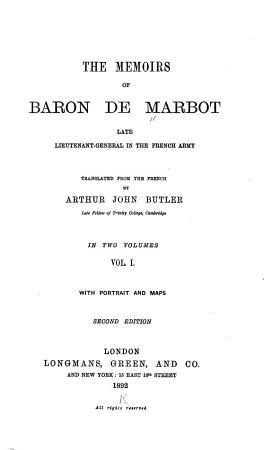 The Memoirs of Baron de Marbot PDF
