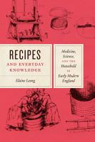 Recipes and Everyday Knowledge PDF