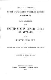 United States Courts of Appeals Reports: Cases Adjudged in the United States Circuit Court of Appeals, Volume 30