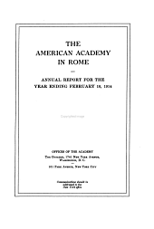 Report - American Academy in Rome