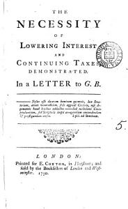 The Necessity of Lowering Interest and Continuing Taxes PDF