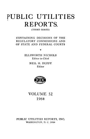 Public Utilities Reports PDF