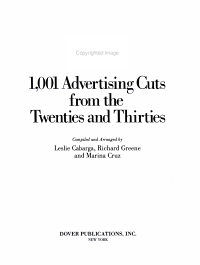 1 001 Advertising Cuts from the Twenties and Thirties PDF