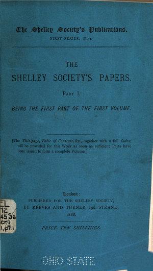 Shelley Society s Publications