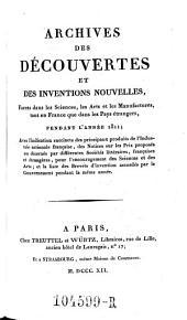 Archives des Decouvertes Et Des Inventions Nouvelles, Faites dans les Sciences, les Arts et les Manufactures, tant en France que dans les Pays etrangers: Volume4