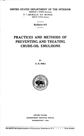 Practices and Methods of Preventing and Treating Crude oil Emulsions PDF