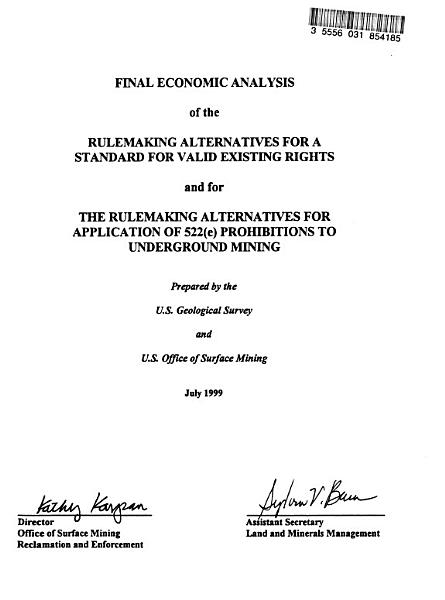 Download Valid Existing Rights   Proposed Revisions to the Permanent Program Regulations Implementing Section 522 E  of the Surface Mining Control and Reclamation Act of 1977 and Proposed Rulemaking Clarifying the Applicability of Section 522 E  to Subsidence from Underground Mining Book