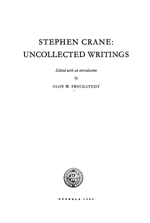 Uncollected Works