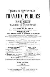 Revue du contentieux des travaux publics du batiment et des marchés de fournitures: Volume12
