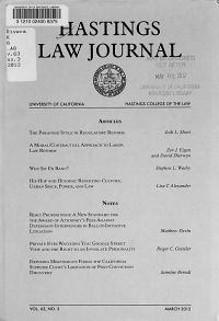 The Hastings Law Journal PDF