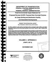 Proposed Runway 5L/23R, Proposed New Overnight Express Air Cargo Sorting and Distribution Facility, and Associated Developments, Piedmont Triad International Airport: Environmental Impact Statement, Volume 5, Part 2