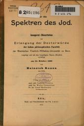 Über die Spektren des Jod