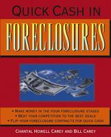 Quick Cash in Foreclosures PDF