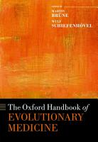 The Oxford Handbook of Evolutionary Medicine PDF