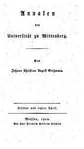 Annalen der Universität zu Wittenberg: Band 3