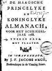De Haagsche, princelyke en koninglyke almanach, voor het jaar MDCCXCV.