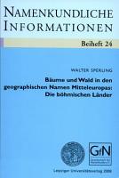 B  ume und Wald in den geographischen Namen Mitteleuropas PDF