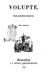 Volupté par Sainte-Beuve: 1