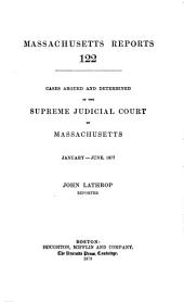 Massachusetts Reports: Volume 122