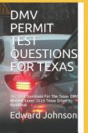 DMV Permit Test Questions for Texas