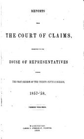 Reports from the Court of Claims Submitted to the House of Representatives: Volume 2