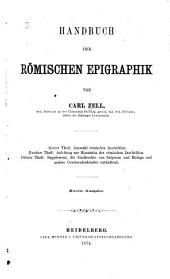 Handbuch der römischen Epigraphik: Bände 1-2
