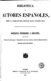 Novelistas posteriores a Cervantes