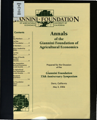 Annals of the Giannini Foundation of Agricultural Economics PDF