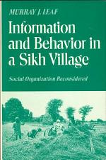 Information and Behavior in a Sikh Village