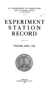 Experiment Station Record: Volume 29