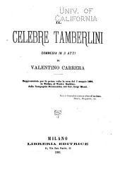 Il celebre Tamberlini: commedia in 3 atti