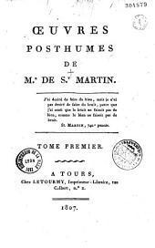 Oeuvres posthumes de M. de St-Martin