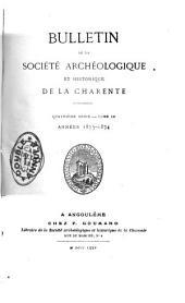 Bulletin de la Société Archéologique et Historique de la Charente: Volume9