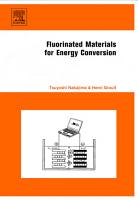 Fluorinated Materials for Energy Conversion PDF