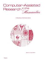 Computer–Assisted Research in the Humanities