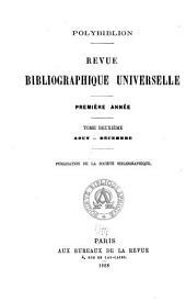 Polybiblion: Revue bibliographique universelle, Volume2