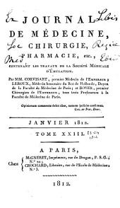 Journal de médecine, chirurgie, pharmacie, etc: Volumes 23 à 24