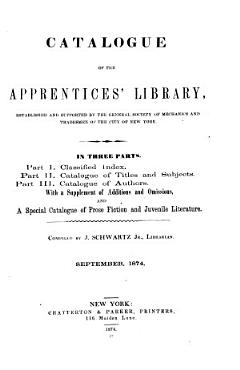 Catalogue of the Apprentices  Library PDF